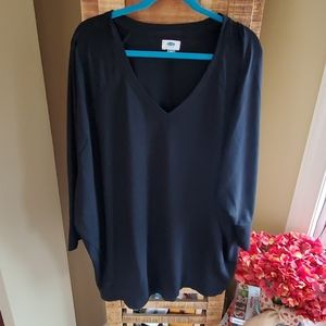 Old Navy soft blk tunic w/ batwing sleeves XXL